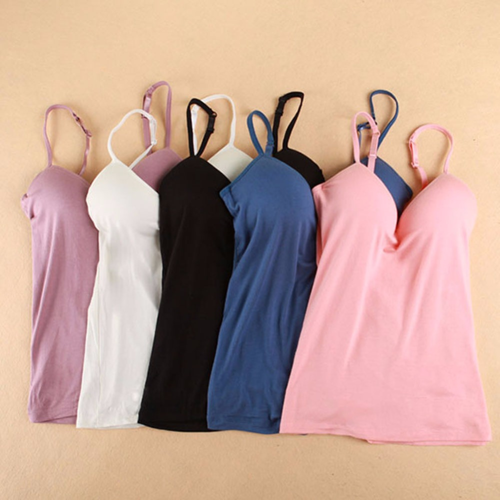 2017 New Sexy Women V Neck Tank Tops Ladies Padded Straps Push Up Bras Vest New Arrival S4