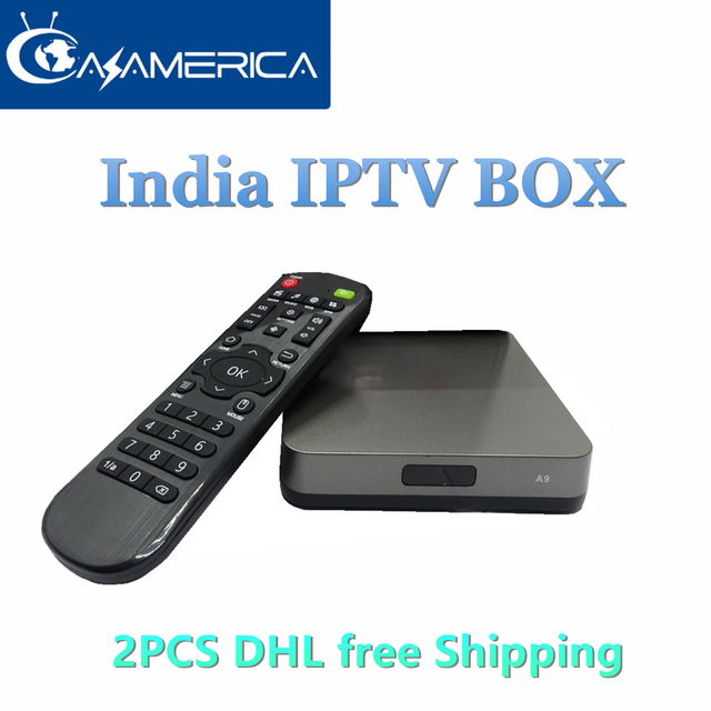 US $296 84 10% OFF|2 Pieces DHL FreeAzamerica Global IPTV Box Quad Core  Indian IPTV Box IPTV Server Software Support 3000 Movies VOD No Monthly  Fee-in
