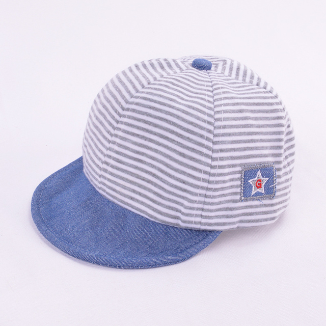 Boy's Casual Striped Soft Baseball Cap 3