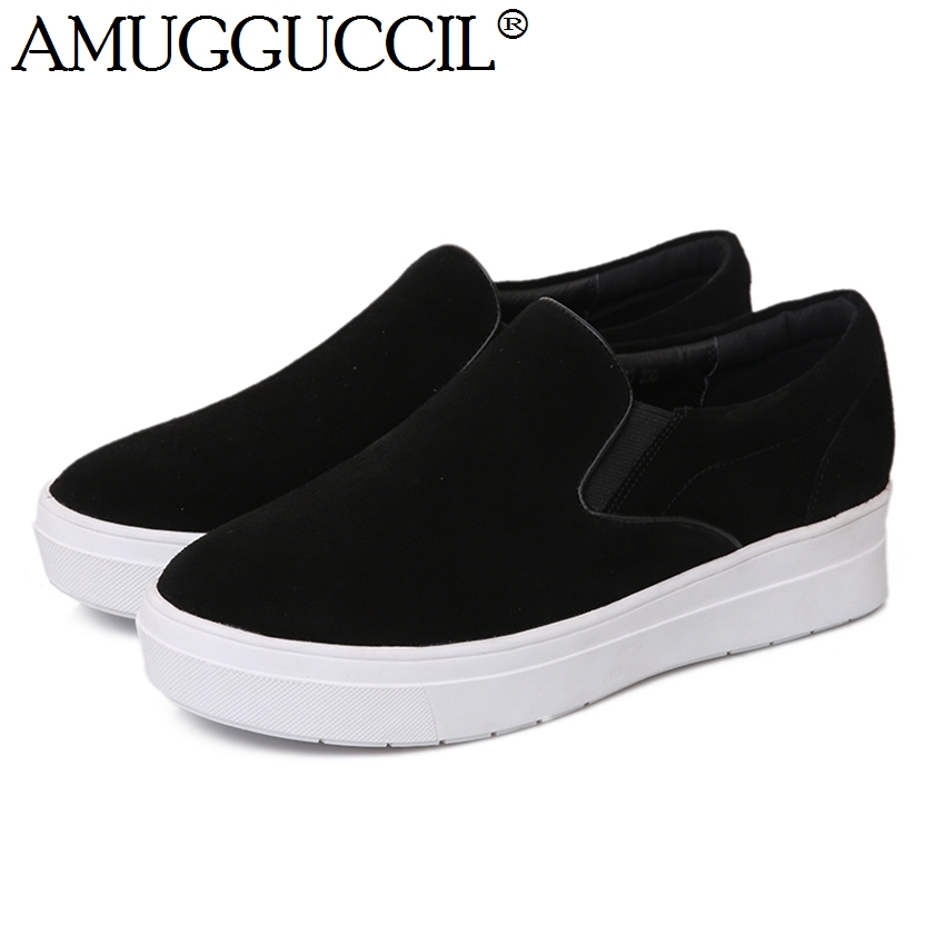 2017 New Arrival Cow Suede Black Gray Fashion Casual Spring Autumn Lady Girls Females font b