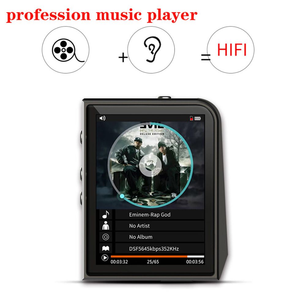 New arrive profession MP3 Music Player DSD128 24bit/192kHz HD Lossless HiFi Sport MP3 Player Sound RUIZU A505 2016 new style mini mp3 player sport hifi lossless music player 16gb hot sales for mobile phone pc tablet