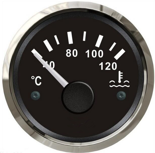 1pc auto gauges water temperature gauges water temperature meters 12v / 24v fit for auto or boat come with sensor