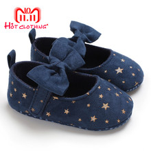 Canvas Baby Shoes Stars Bow iNS Newborn