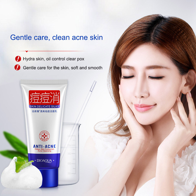 Acne Treatment Facial Cleanser Black Head Remove Oil-control Deep Cleansing Shrink Pores Foam HJL2018