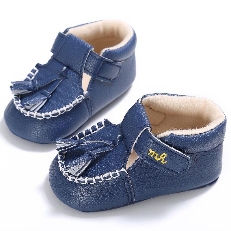 0-18 M Pu Leder Säuglings Schuhe Kleinkind Neugeborenen Baby Kinder Erste Wanderer Baby Krippe Weiche Schuhe Schuhe 3 Farben StraßEnpreis