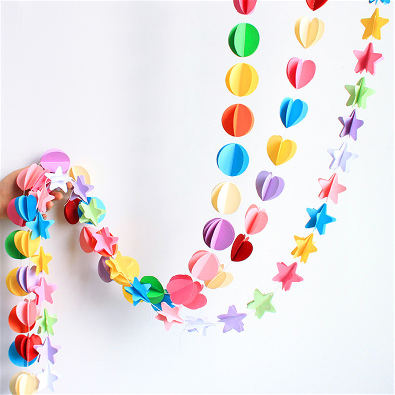 Colored paper pulled flower decoration wedding navidad party backdrops baby shower birthday Party & festival DIY decoration