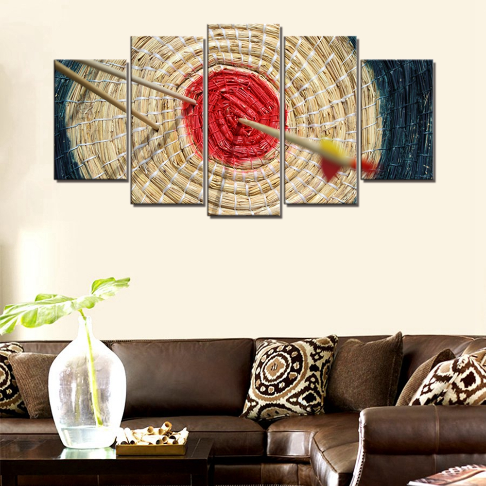Landscape Poster Art Print Arrow Red Target Sport Wall Art Canvas Painting for Office Home Wall Decor Picture Artwork Drop Ship