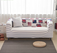 Flower Printed Striped Full All Inclusive Covers For Living Room Soft Printed Stretch Sofa Cover Long