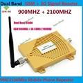 Antena interna + Dual Band GSM 3G Repetidor GSM 2G 900 MHz 3G UMTS 2100 MHz Móvel Celular Repetidor de Sinal de Reforço amplificador
