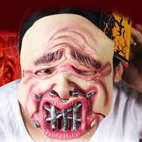 Nails Mask Horror Halloween Halloween Mouth Adult Size Party Wrapped Head Mask Long Hair Masks Party
