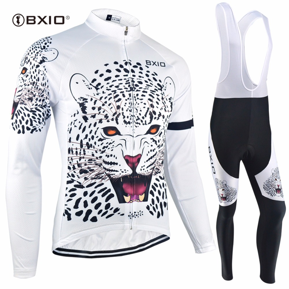 BXIO Winter Thermal Fleece Cycling Sets Professional Mtb Bike Clothing Sportwear Quick Dry Jersey Sets Cool Maillot Ciclismo 034