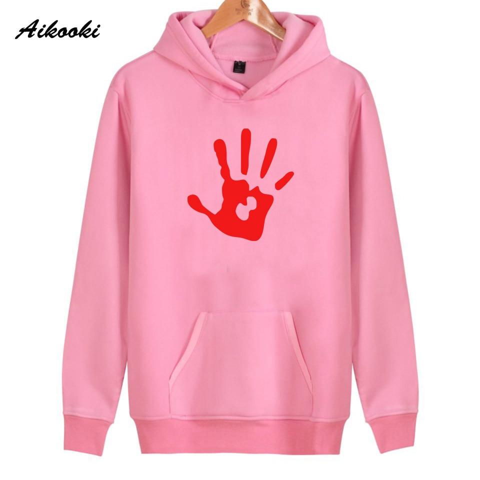 2018 Aikooki Skyrim Hoodies Women/Men Pink Cotton Harajuku Skyrim Womens Hoodies and Sweatshirt High Quality Clothes