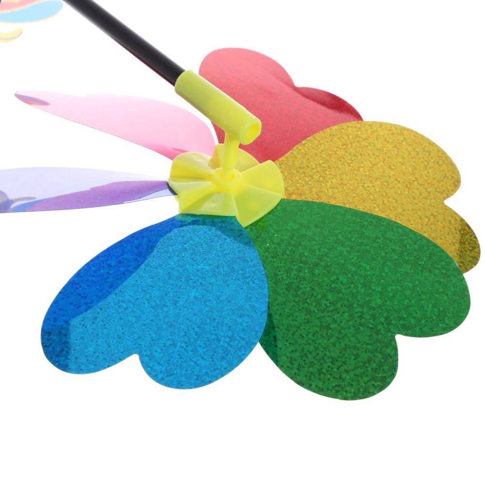 Colorful Sequins Windmill Wind Spinner Home Garden Yard Decoration ...