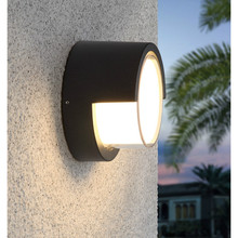 New LED Outdoor Wall Lamp Modern Creative Outdoor Courtyard Waterproof Wall Lamp Aisle Staircase Balcony Wall Lamp Free Shipping