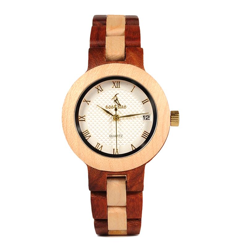 BOBO BIRD Rose SandalWood Elegant Minimal Wooden Watch For Women 15