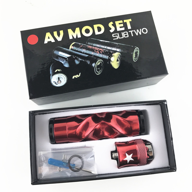 AV Torsion MOD kit Mechanical 18650 Mods Diameter atomizer vaporizer with E cigarette mechanical mod 510 lead battery needed benecig killer 260w mechanical mod
