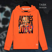 Andres Iniesta Men pullovers hoodies sweatshirt Clothing streetwear tracksuit casual Spain Barcelona footballer player spring(China)