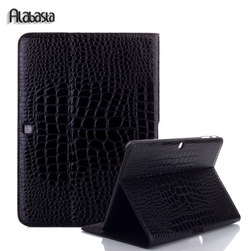 Alabasta For Samsung Galaxy Tab Pro 10.1 inch T520 T525 T521 Note P600 P601 P605 Leather Cases Flip Stand cover Stylus for apple ipad pro 9 7 cases alabasta