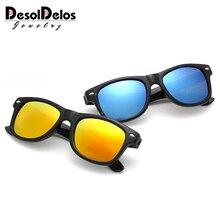 DesolDelos Новая мода Дети солнцезащитные очки для мальчиков и девочек солнцезащитные очки Пластик Frame 8 цветов милые крутые защитные очки UV400