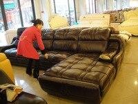 Top Graded Cow Leather Sofa Living Room Sofa Modern Design Sectional Hot Sale 9017 Sofa Single