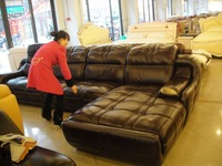 Top graded reale cuoio genuino della mucca divano in pelle/divano del soggiorno design moderno sezionale vendita calda 9017 divano + singolo sedia + chaise