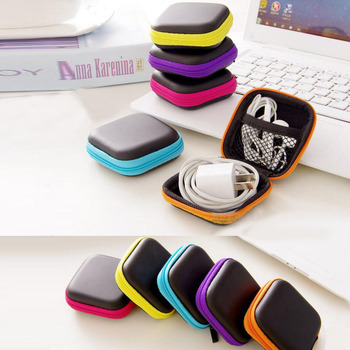 1Pc Headphones Earphone Cable Earbuds Storage Hard Case Carrying Pouch bag SD Card Hold box Storage Bags