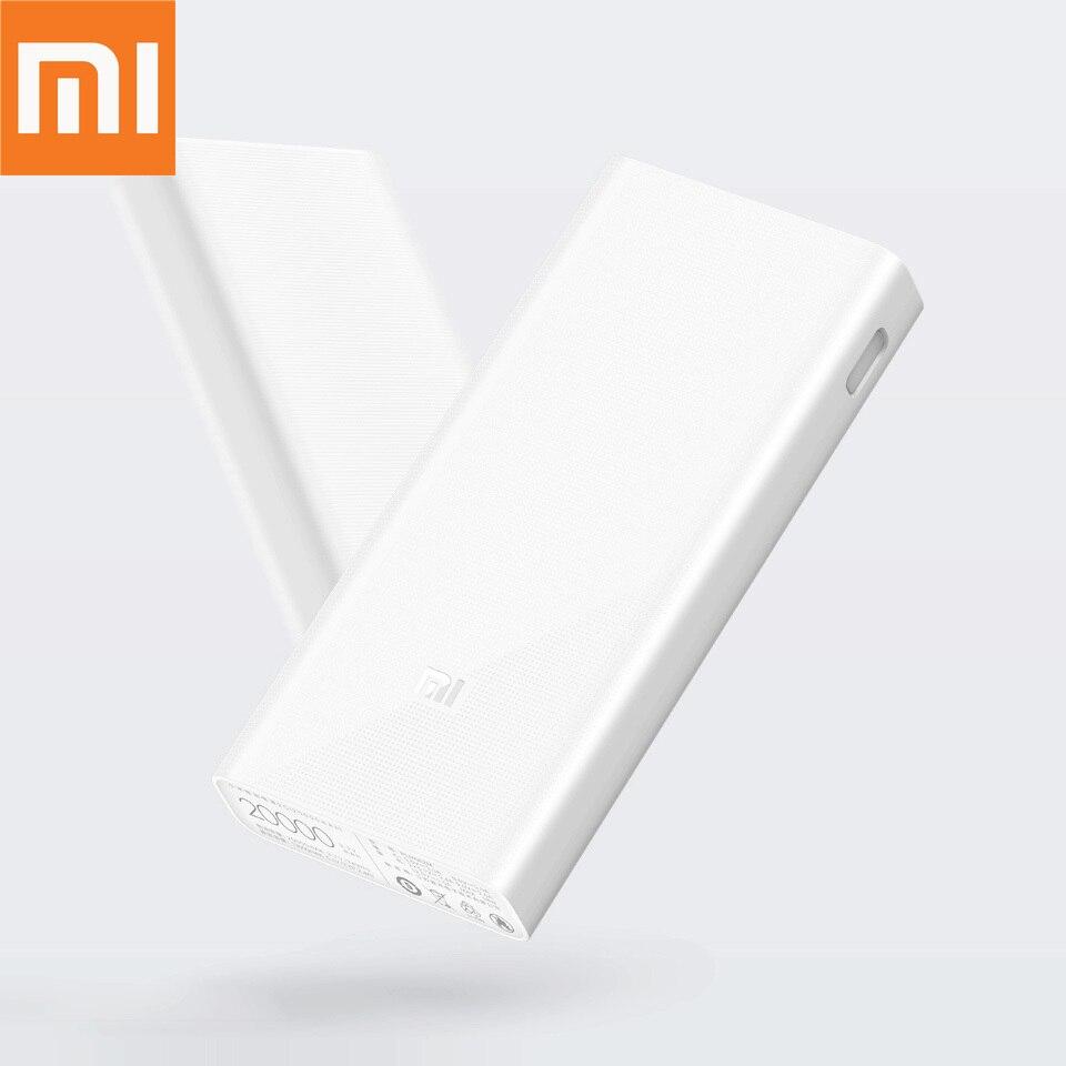 Xiaomi Original batterie externe 20000 mAh 2C externe batterie portable charge double USB QC3.0Mi 20000 mAh Powerbank chargeur pour téléphone
