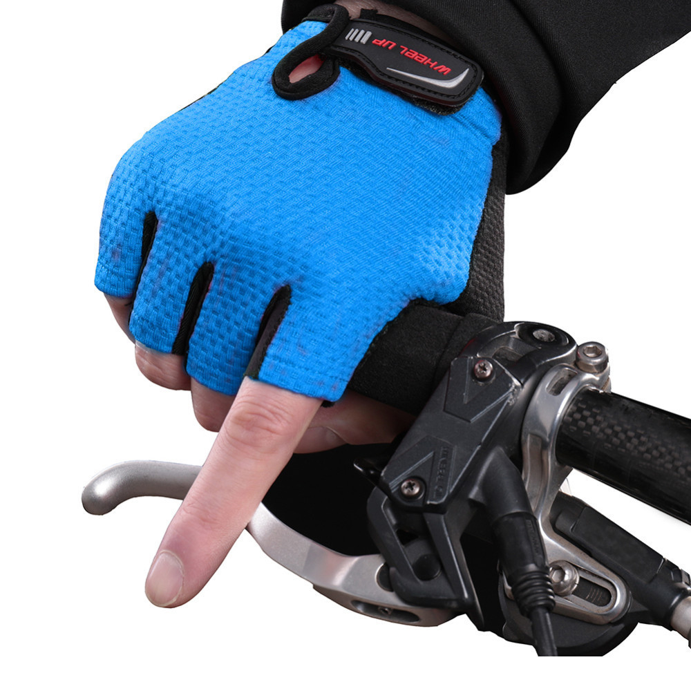 Unisex Non-Slip Cycling Gloves MTB Mountain Bicycle Breathable Half Finger Gloves Bike Riding Equipment For Outdoor Sports