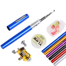 Mini Fishing Rod and Reel Combos Travel Fishing Rod Set  Fishing Rod Pole + Reel Aluminum Alloy + Fishing Line+ Soft lure set new mini portable pocket fish pen aluminum alloy rod of fishing pole reel combos lightweight ice rods reel fishing kits