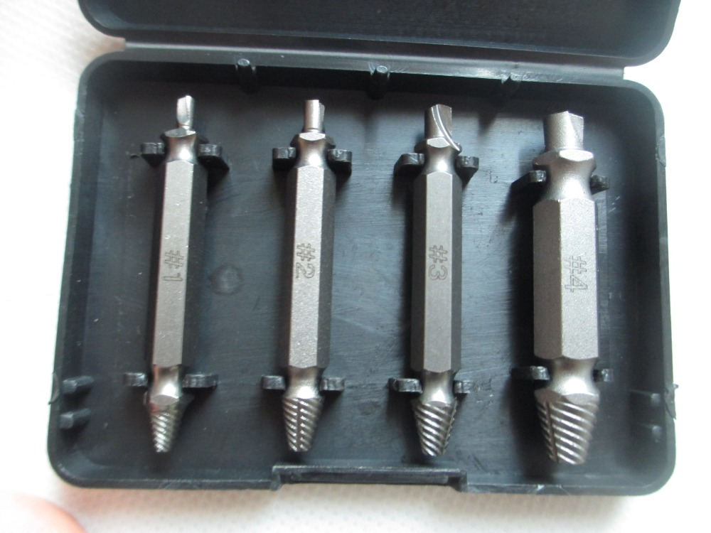 4PCS / Set Gurați de oțel din aliaj set Set șurub rupt - Burghiu - Fotografie 2