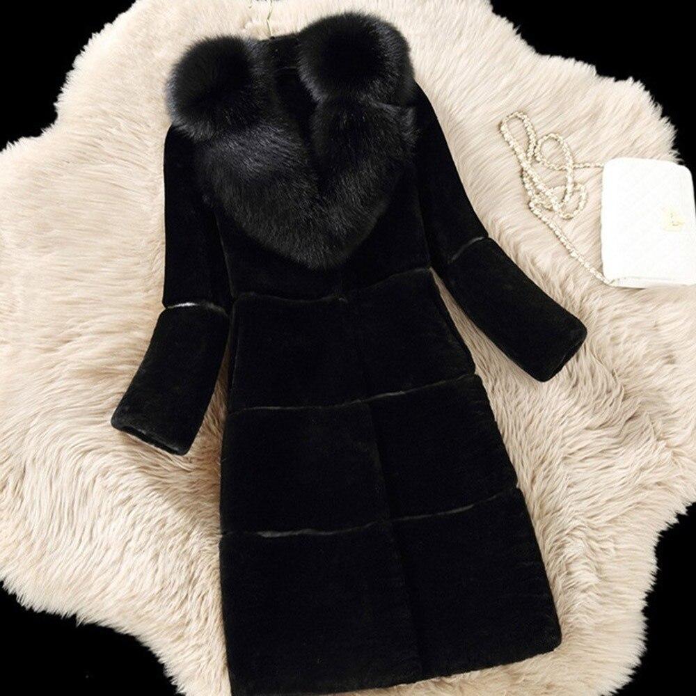 Sisjuly зима для женщин пальто искусственный мех длинные толстые теплые элегантные дамы верхняя одежда женский 2018 Мода Красный Лоскутная шик п...