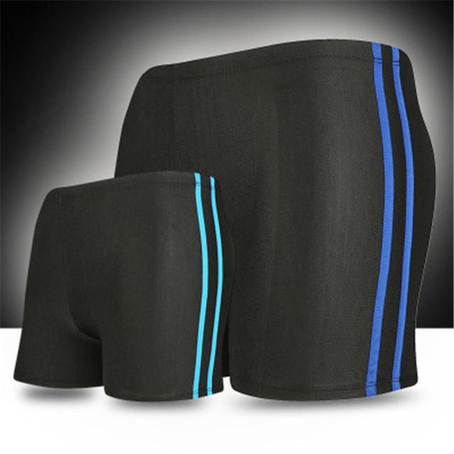 Men 2019 Summer Beachwear Swimwear Mid Waist Striped Boxers Hot Sale Swimming Swim Trunks Board Shorts For Boys New Fashion