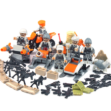 hot LegoINGlys military World War II Soviet Union army winter Counterattack war Building Blocks weapons figures bricks toys gift