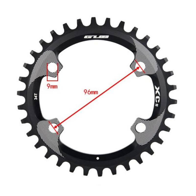 ФОТО Ultralight bike chainwheel 96BCD crankset mtb chainrings mountain bike A7075 Alloy bicycle crank chainwheel 34T use M8000 crank