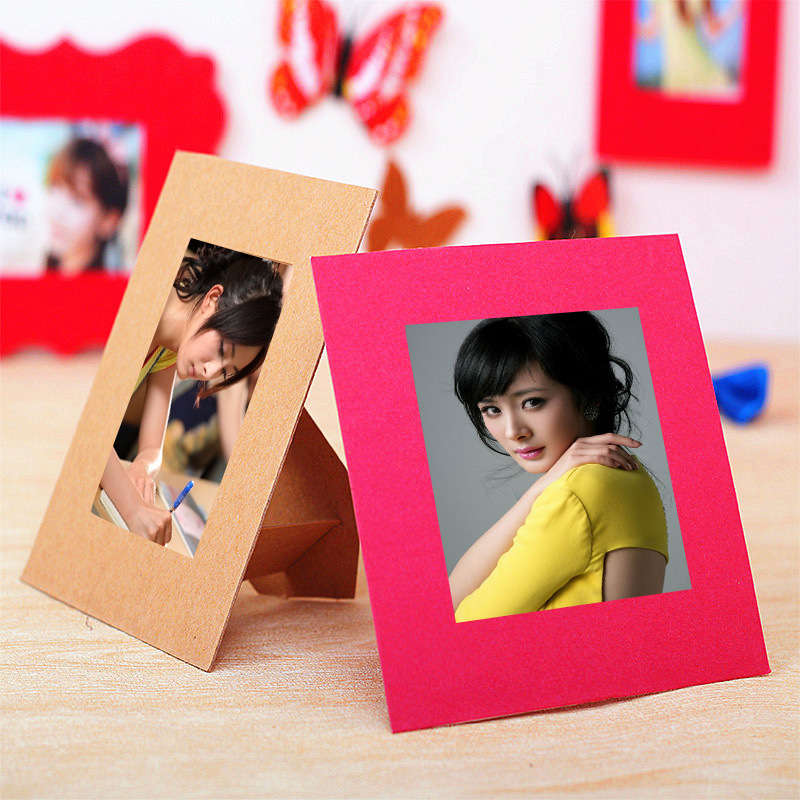 10 pcs/lot 3 Inch DIY Colorfull  Paper Photo Frame For Pictures photo J&Y Art Home Decor JY-351