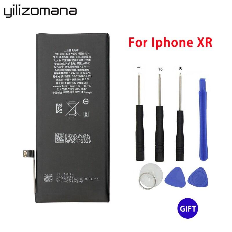 Batterie de téléphone YILIZOMANA pour Apple iPhone XR 2942 mAh remplacement de téléphone portable batterie Li-ion outils de réparation gratuits paquet de détail