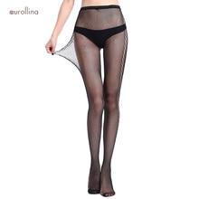 Jacquard Fishnet Stocking Pantyhose Intensely Netted Mesh Stretchy Nylon Stockings Hot Underdress Erotic