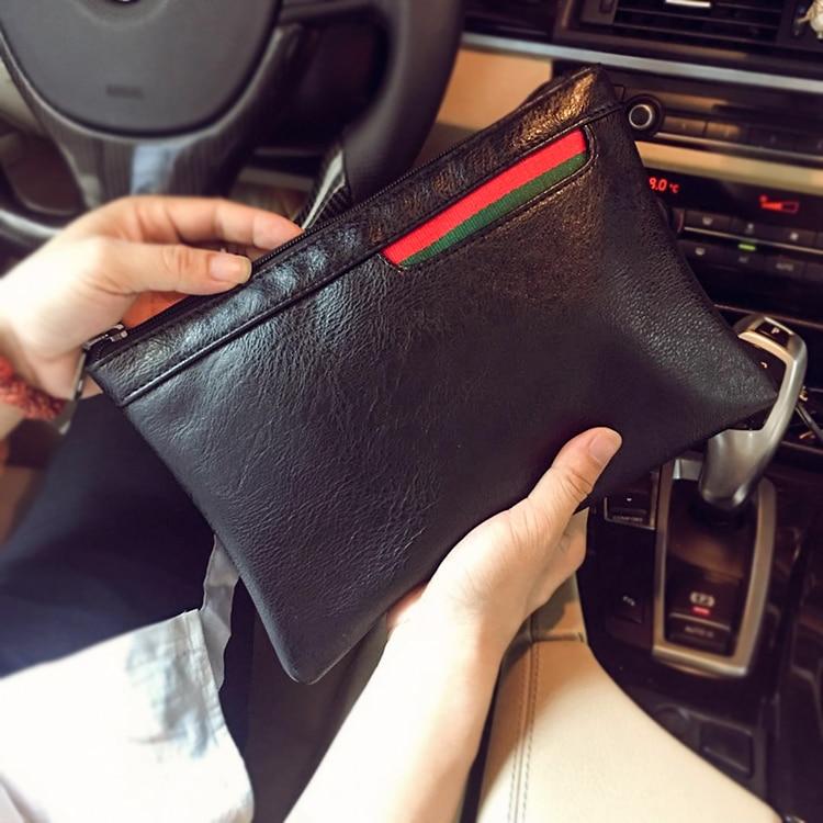 NEW KISUMATER Men's Handbag Korea Style Clutch Envelope Handbag Casual Purse Bag Simple Design Casual Bag Free Shipping
