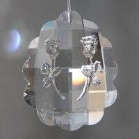 Transparent 100pcs 89mm faceted double rose crystal chandelier pendants,lamp hanging parts suncatcher prisms decoration