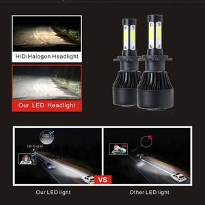 Image 2 - مصباح أمامي Led 4 جوانب H4 H7 H11 لمبة إضاءة ليد لمبة سيارة HB4 H13 9004 9005 9006 9007 مصباح 100W 12000Lm 6500K 12V