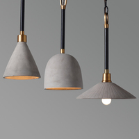 Nordic American Pendant Lights creative personality retro industry loft simple coffee single restaurant cement lamps LU718118