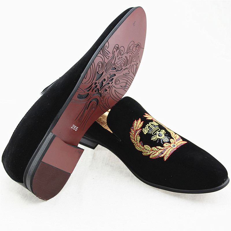 Fine Mens Fashion Brand Suede Leather Loafers Mens Casual Rhinestone Spider Moccasins Oxfords Shoes Man Party Flats Men's Shoes