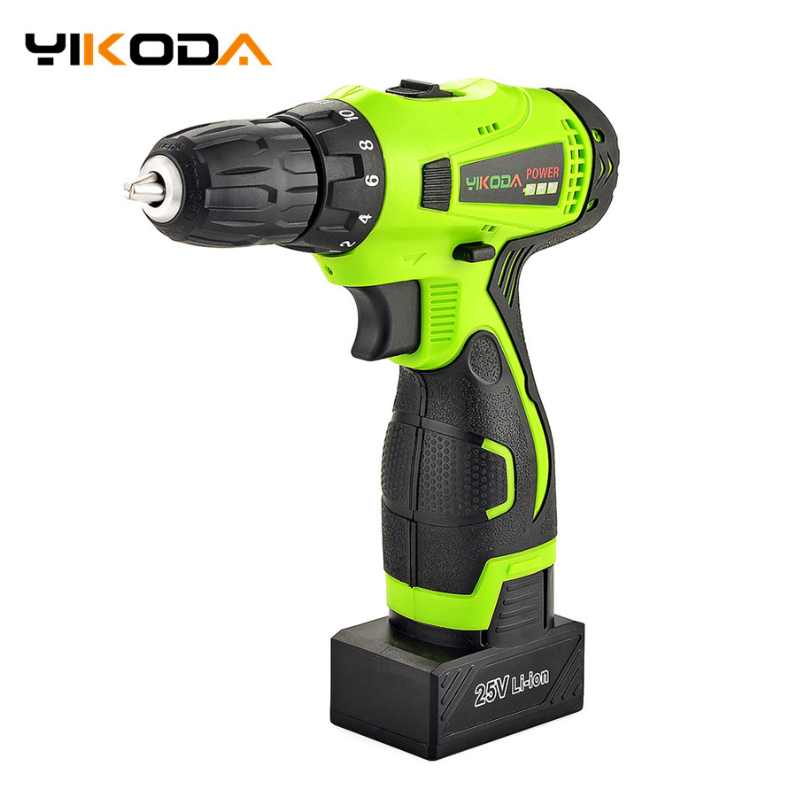 25V Lithium Battery Electric Drill Double Speed Electric Screwdriver Household Multi function Cordless Drill Power Tools