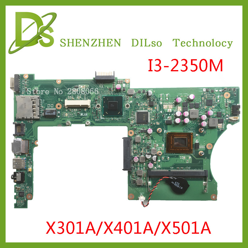 KEFU X401A motherboard For ASUS X301A X401A X501A motherboard original new motherboard X401A i3-2350M rev3.0 Test