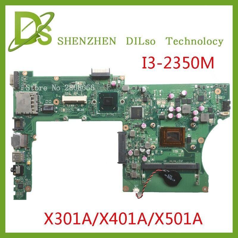 KEFU X401A Motherboard For ASUS X301A X401A X501A Motherboard Original New Motherboard X401A I3-2350M Rev3.0  Test  Original