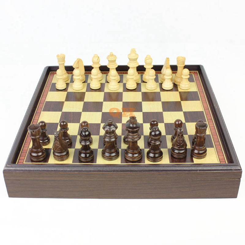 ФОТО Hot Board Game Wooden Chess Set  Box Wooden Table Natural Green Paint Desktop 310*310*53mm K8356