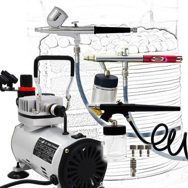 Premium 3 Airbrush Kuchen Kit mit Luftkompressor und Luftschlauch ...