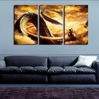 3 Pieces HD Printed Dragon Ball 3 Wall Art Picture Home Decoration Living Room Modular Picture