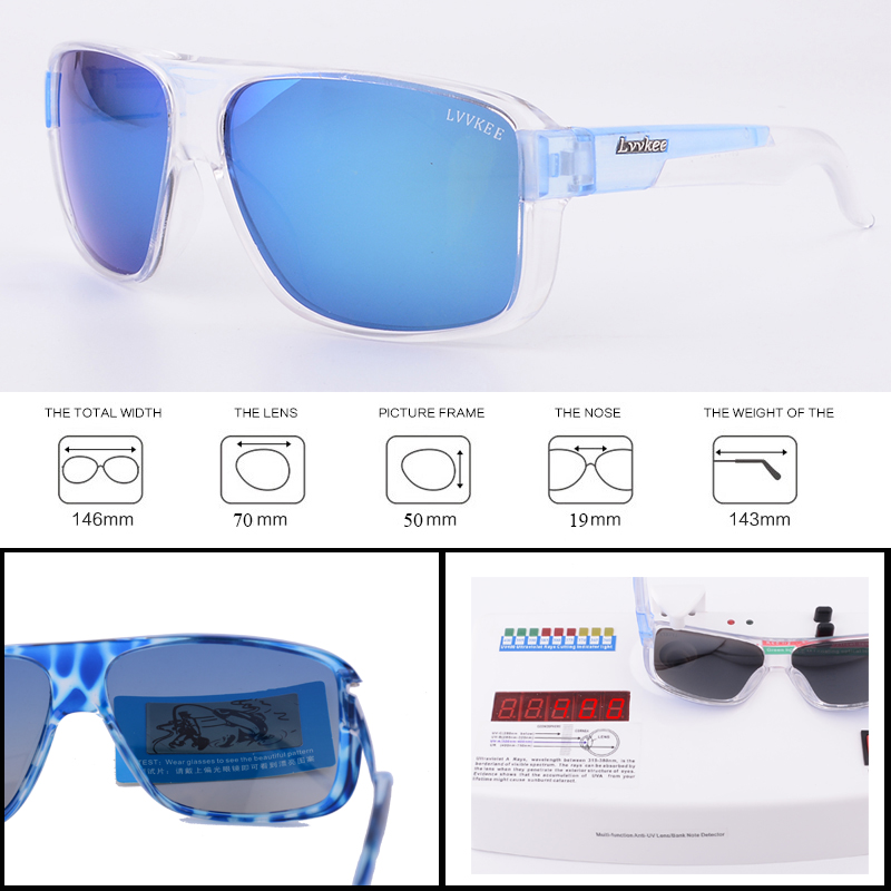 Luxury Brands Goggles Sport Polarized Men Driver Sunglasses Gafas Outdoor H2o Blue Lens V400 Male With Original Logo Sunglasses Back To Search Resultsapparel Accessories Men's Sunglasses