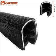 H20mm U tipi otomotiv dondurucu SUV araba kapı çerçevesi kauçuk ses geçirmez conta Trim şeritler koruma tamponları